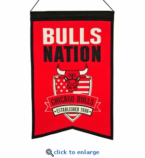 Chicago Bulls Nations Wool Banner (14 x 22)