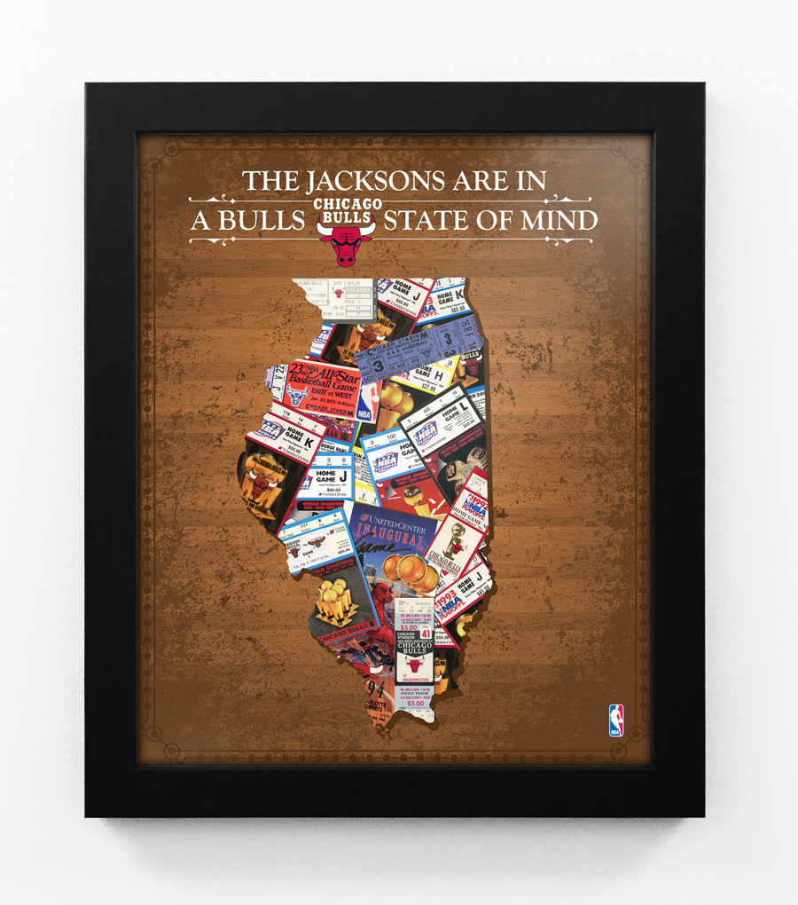 Chicago Bulls Personalized State Of Mind Framed Print Illinois
