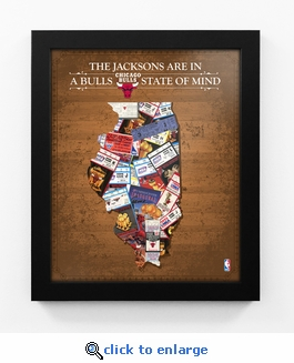 Chicago Bulls Personalized State of Mind Framed Print - Illinois