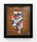 Chicago Bulls State of Mind Framed Print - Illinois