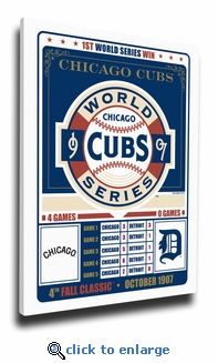 Chicago Cubs 1907 World Series Champions Vintage Canvas Print