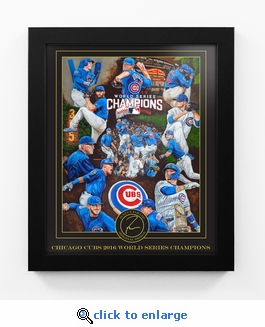 Chicago Cubs 2016 World Series Champions Framed Digital Print by Artist Justyn Farano