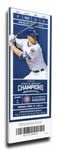 Chicago Cubs 2017 Opening Day / World Series Banner Raising Canvas Mega Ticket