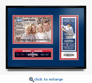 Chicago Cubs 2017 Opening Day / World Series Banner Raising 5x7 Photo Ticket Frame