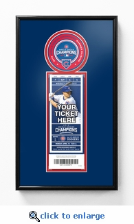 Chicago Cubs 2017 Opening Day / World Series Banner Raising Single Ticket Frame