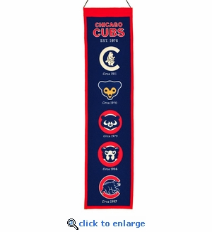 Chicago Cubs Heritage Wool Banner (8 x 32)