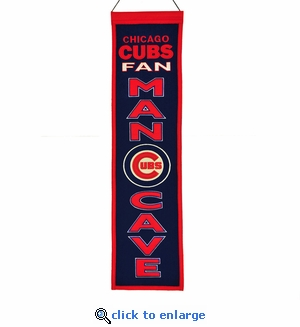 Chicago Cubs Man Cave Wool Banner (8 x 32)