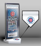 Chicago Cubs My First Game Ticket Display Stand