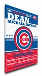 Chicago Cubs Personalized Canvas Birth Announcement - Baby Gift