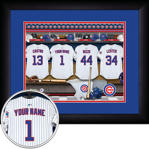 Chicago Cubs Personalized Locker Room Print