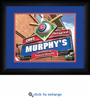 Chicago Cubs Personalized Sports Room / Pub Print