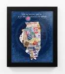 Chicago Cubs Personalized State of Mind Framed Print - Illinois