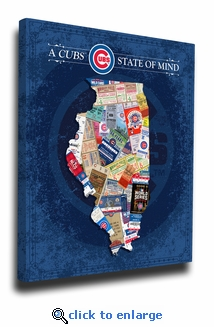 Chicago Cubs State of Mind Canvas Print - Illinois