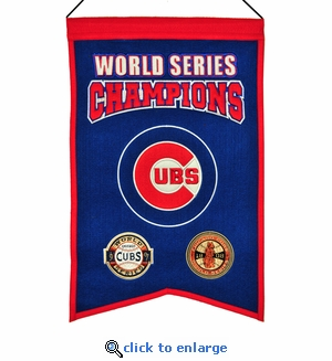 Chicago Cubs World Series Champions Wool Banner (14 x 22)