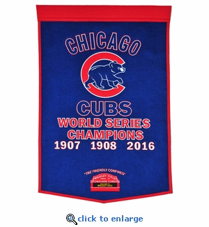Chicago Cubs World Series Dynasty Wool Banner (24 x 36)
