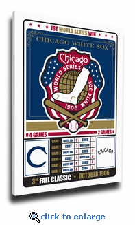 Chicago White Sox 1906 World Series Champions Vintage Canvas Print