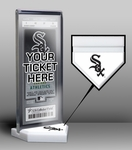 Chicago White Sox Home Plate Ticket Display Stand