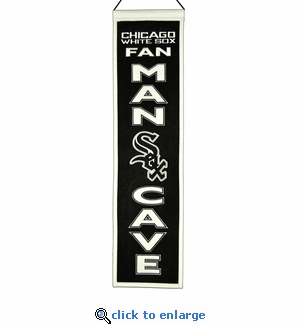 Chicago White Sox Man Cave Wool Banner (8 x 32)