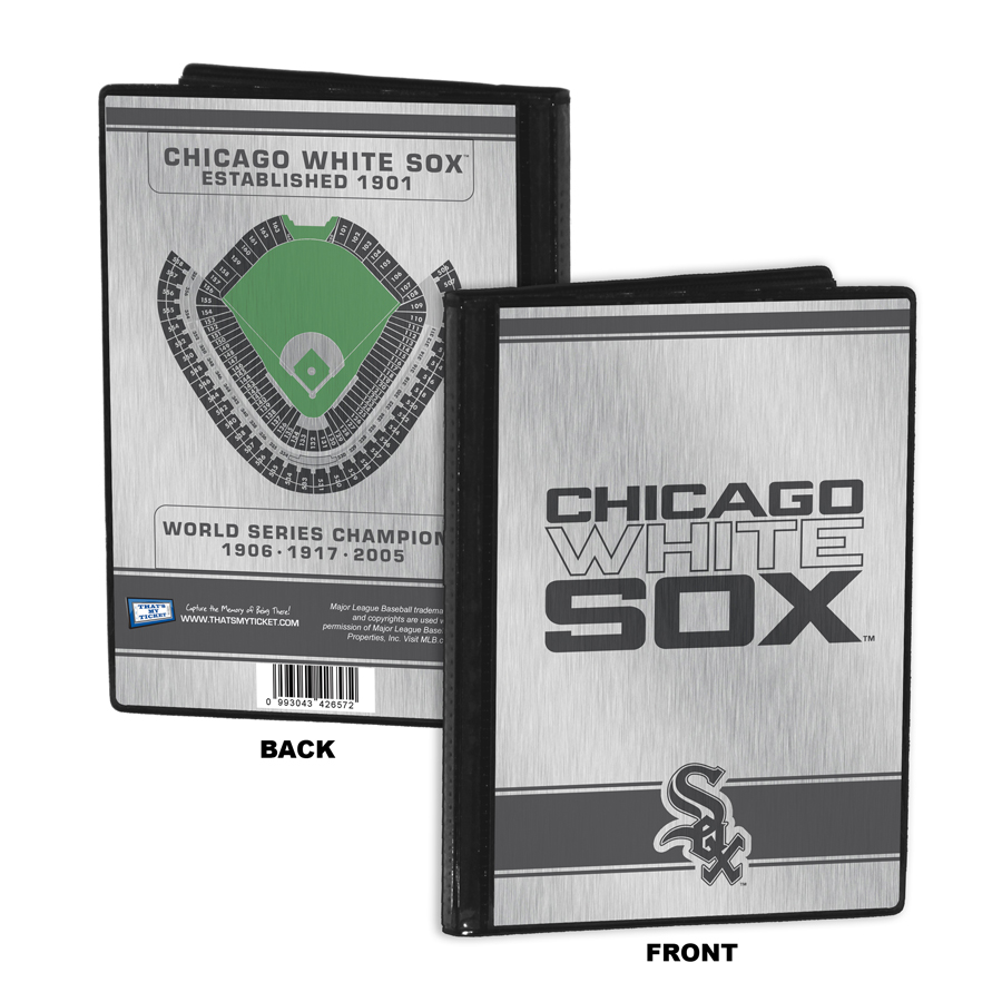 Chicago white sox personalized canvas birth announcement baby gift chicago white sox 4x6 mini photo album negle Images