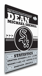 Chicago White Sox Personalized Canvas Birth Announcement - Baby Gift