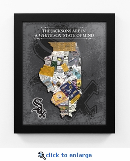 Chicago White Sox Personalized State of Mind Framed Print - Illinois