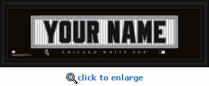 Chicago White Sox Personalized Stitched Jersey Nameplate Framed Print