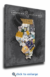 Chicago White Sox State of Mind Canvas Print - Illinois