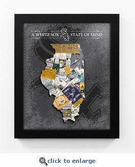 Chicago White Sox State of Mind Framed Print - Illinois