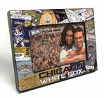 Chicago White Sox Ticket Collage Black Wood Edge 4x6 inch Picture Frame