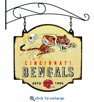 Cincinnati Bengals 16 X 16 Metal Tavern / Pub Sign