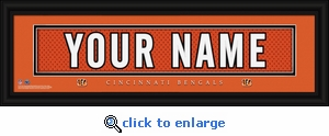 Cincinnati Bengals Personalized Stitched Jersey Nameplate Framed Print