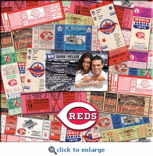 Cincinnati Reds 12 x 12 Scrapbook - Ticket & Photo Album