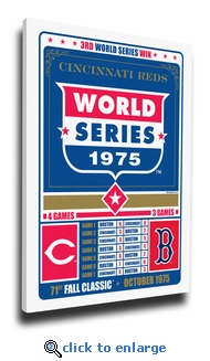 Cincinnati Reds 1975 World Series Champions Vintage Canvas Print