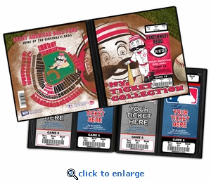 Cincinnati Reds Mascot Ticket Album - Mr Redlegs