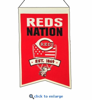 Cincinnati Reds Nations Wool Banner (14 x 22)