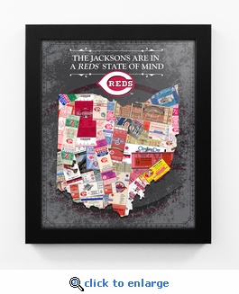 Cincinnati Reds Personalized State of Mind Framed Print - Ohio