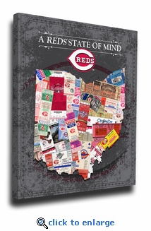 Cincinnati Reds State of Mind Canvas Print - Ohio