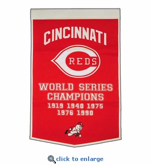 Cincinnati Reds World Series Dynasty Wool Banner (24 x 36)