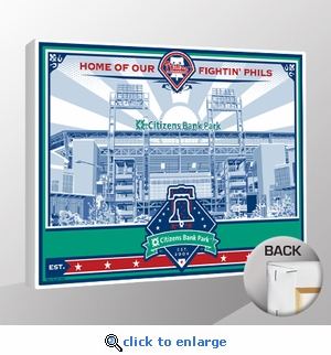 Citizens Bank Park Sports Propaganda Canvas Print - Phillies