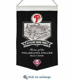 Citizens Bank Park Wool Banner (20 x 15) - Philadelphia Phillies