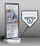 Clayton Kershaw No Hitter Home Plate Ticket Display Stand - Los Angeles Dodgers