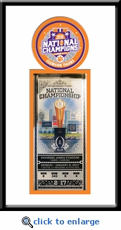Clemson Tigers 2016 Football National Champions Single Ticket Frame