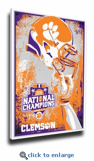 Clemson Tigers 2016 Football National Champions Sports Propaganda Canvas Print