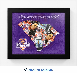 Clemson Tigers 2016 Football National Champions State of Mind Framed Print