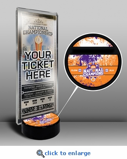 Clemson Tigers 2016 Football National Champions Ticket Display Stand