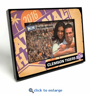 Clemson Tigers 2016 Football National Champions Black Wood Edge 4x6-inch Picture Frame