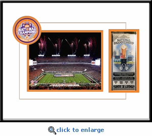 Clemson Tigers 2016 Football National Champions 8x10 Photo Ticket Frame