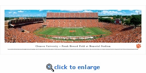 Clemson Tigers Football - 50 Yard Line - Panoramic Photo (13.5 x 40)