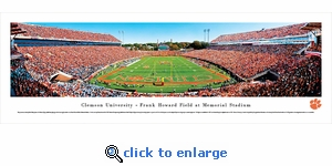 Clemson Tigers Football - End Zone - Panoramic Photo (13.5 x 40)