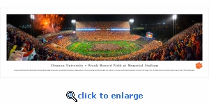 Clemson Tigers Football vs Notre Dame - Panoramic Photo (13.5 x 40)